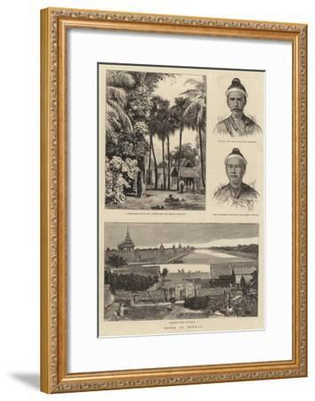 Notes in Burmah-William Henry James Boot-Framed Giclee Print