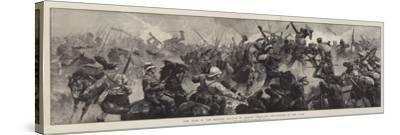 The War in the Soudan, Battle of Tamasi, Gallant Re-Capture of the Guns-William Heysham Overend-Stretched Canvas Print