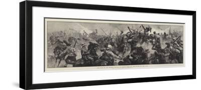 The War in the Soudan, Battle of Tamasi, Gallant Re-Capture of the Guns-William Heysham Overend-Framed Giclee Print