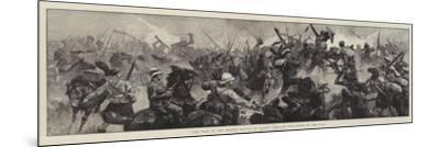 The War in the Soudan, Battle of Tamasi, Gallant Re-Capture of the Guns-William Heysham Overend-Mounted Giclee Print