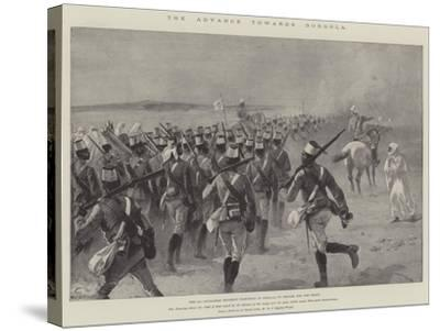 The Advance Towards Dongola, the 9th Soudanese Regiment Marching to Shellal to Embark for the Front-William Heysham Overend-Stretched Canvas Print