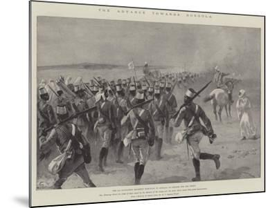 The Advance Towards Dongola, the 9th Soudanese Regiment Marching to Shellal to Embark for the Front-William Heysham Overend-Mounted Giclee Print