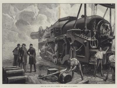 Firing the 111-Ton Gun at Woolwich-William Heysham Overend-Framed Giclee Print