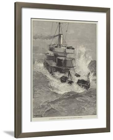 An Experimental Cruise, HMS Hecate at Sea on Her Passage to Heligoland-William Heysham Overend-Framed Giclee Print