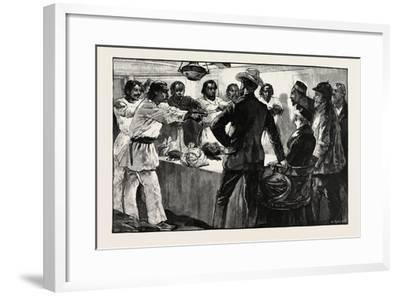The Effect of His Speech Was to Cause the Whole of Them to Extend their Arms Towards Us with the Fo-William Heysham Overend-Framed Giclee Print