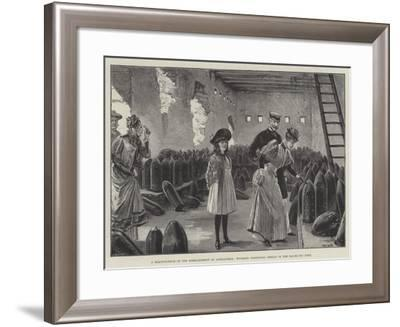 A Reminiscence of the Bombardment of Alexandria, Tourists Inspecting Shells in the Ras-El-Tin Fort-William Heysham Overend-Framed Giclee Print