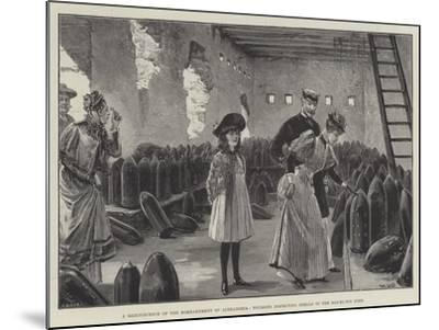 A Reminiscence of the Bombardment of Alexandria, Tourists Inspecting Shells in the Ras-El-Tin Fort-William Heysham Overend-Mounted Giclee Print
