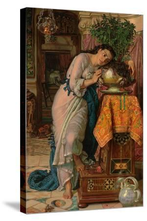 Isabella and the Pot of Basil, 1867-William Holman Hunt-Stretched Canvas Print
