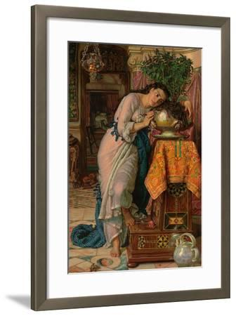 Isabella and the Pot of Basil, 1867-William Holman Hunt-Framed Giclee Print