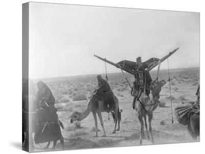 Ajman Bedouin on the Move (With Women's Litter, Hawdaj) Near Thaj, Saudi Arabia, 13th March 1911-William Henry Irvine Shakespear-Stretched Canvas Print