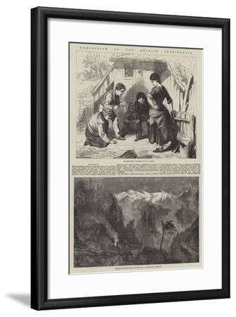 Exhibition of the British Institution-William Henry Knight-Framed Giclee Print