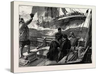 As the Clipper Stormed Past-William Heysham Overend-Stretched Canvas Print