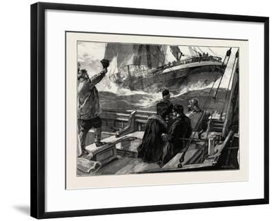 As the Clipper Stormed Past-William Heysham Overend-Framed Giclee Print