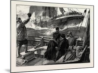 As the Clipper Stormed Past-William Heysham Overend-Mounted Giclee Print
