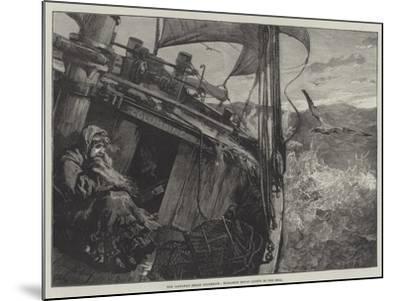 The Castaway Smack Columbine, Elizabeth Mouat Lashed to the Deck-William Heysham Overend-Mounted Giclee Print