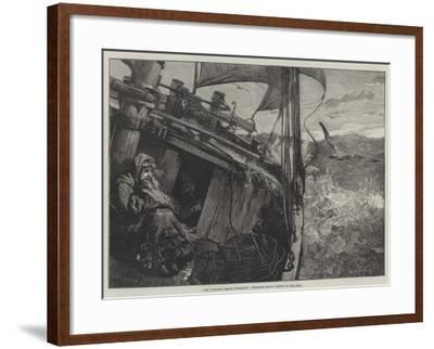The Castaway Smack Columbine, Elizabeth Mouat Lashed to the Deck-William Heysham Overend-Framed Giclee Print