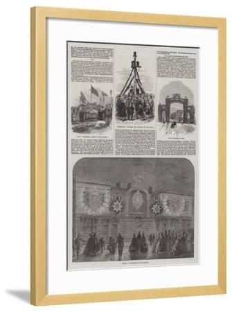 Wedding of the Prince of Wales and Alexandra of Denmark-William Henry Pike-Framed Giclee Print