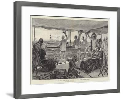 Farewell to Africa, Stanley and His Officers Leaving Mombasa in the Steam-Ship Katoria-William Heysham Overend-Framed Giclee Print
