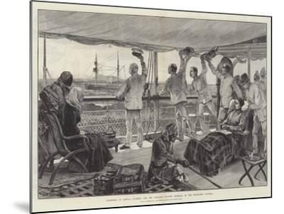 Farewell to Africa, Stanley and His Officers Leaving Mombasa in the Steam-Ship Katoria-William Heysham Overend-Mounted Giclee Print