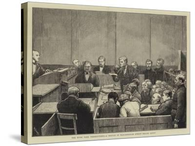 The Hyde Park Prosecutions, a Sketch in Marlborough Street Police Court-William III Bromley-Stretched Canvas Print