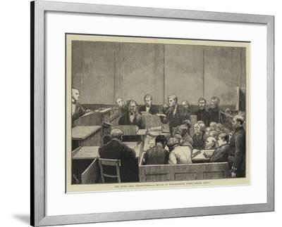 The Hyde Park Prosecutions, a Sketch in Marlborough Street Police Court-William III Bromley-Framed Giclee Print
