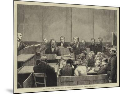 The Hyde Park Prosecutions, a Sketch in Marlborough Street Police Court-William III Bromley-Mounted Giclee Print