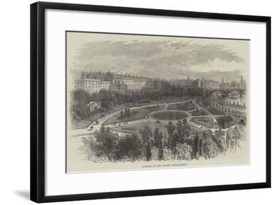 Gardens on the Thames Embankment-William Henry Pike-Framed Giclee Print