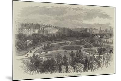 Gardens on the Thames Embankment-William Henry Pike-Mounted Giclee Print
