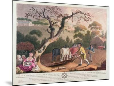 View of Ploughing, Sowing Flax Seed and Harrowing, 1791-William Hincks-Mounted Giclee Print