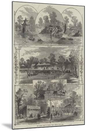 The Queen's Visit to Victoria Park, Views in the Park-William Henry Prior-Mounted Giclee Print
