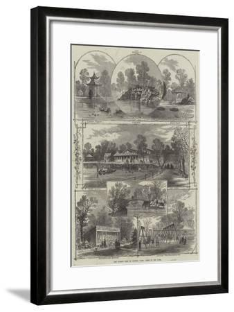 The Queen's Visit to Victoria Park, Views in the Park-William Henry Prior-Framed Giclee Print