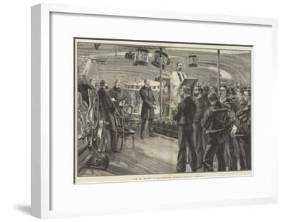 Life on Board a Man-Of-War, Sunday Morning Service-William Heysham Overend-Framed Giclee Print
