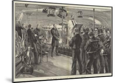 Life on Board a Man-Of-War, Sunday Morning Service-William Heysham Overend-Mounted Giclee Print