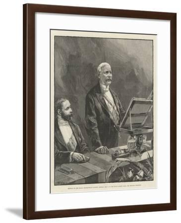 Meeting of the Royal Geographical Society-William Heysham Overend-Framed Giclee Print