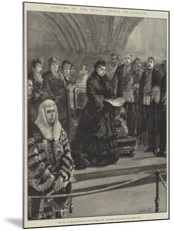Opening of the Royal Courts of Justice-William Heysham Overend-Mounted Giclee Print
