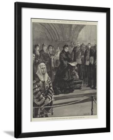 Opening of the Royal Courts of Justice-William Heysham Overend-Framed Giclee Print