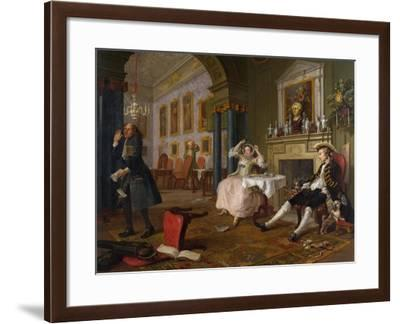 Marriage a La Mode: II - the Tete a Tete, C.1743-William Hogarth-Framed Giclee Print