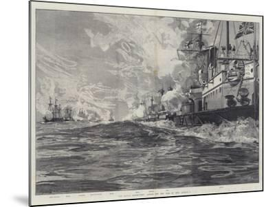 The Naval Manoeuvres, Action Off the Isle of Man, 3 August-William Heysham Overend-Mounted Giclee Print