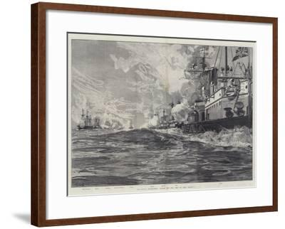 The Naval Manoeuvres, Action Off the Isle of Man, 3 August-William Heysham Overend-Framed Giclee Print