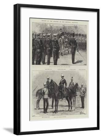 Troops at the Opening of the Imperial Institute-William Heysham Overend-Framed Giclee Print