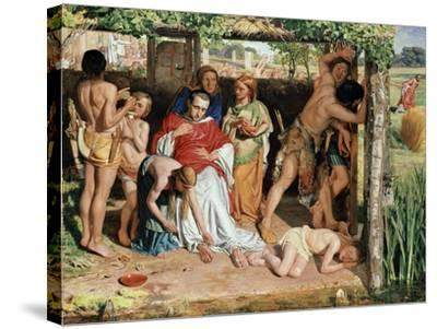 A Converted British Family Sheltering a Christian Missionary from the Persecution of the Druids-William Holman Hunt-Stretched Canvas Print