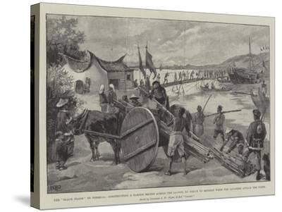 The Black Flags in Formosa-William Heysham Overend-Stretched Canvas Print