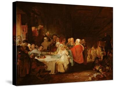 A Scotch Wedding, 1811 (Panel)-William Home Lizars-Stretched Canvas Print