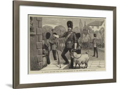 St David's Day, the Goat and the Drum-Major of the Royal Welsh (23Rd) Fusiliers-William III Bromley-Framed Giclee Print