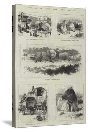 Sketches of Gipsy Life Round London-William Heysham Overend-Stretched Canvas Print