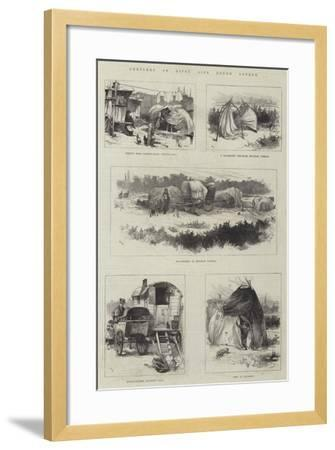 Sketches of Gipsy Life Round London-William Heysham Overend-Framed Giclee Print