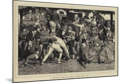 A Good Hit, a Sketch at the Eton and Harrow Cricket Match-William III Bromley-Mounted Giclee Print