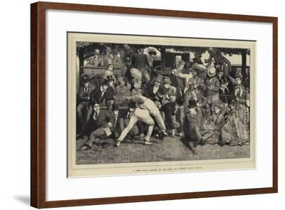 A Good Hit, a Sketch at the Eton and Harrow Cricket Match-William III Bromley-Framed Giclee Print