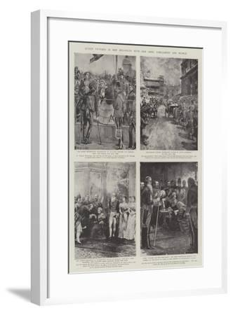 Queen Victoria in Her Relations with Her Army, Parliament and People-William Heysham Overend-Framed Giclee Print
