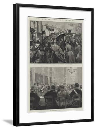 The Queen's Visit to Liverpool-William Heysham Overend-Framed Giclee Print
